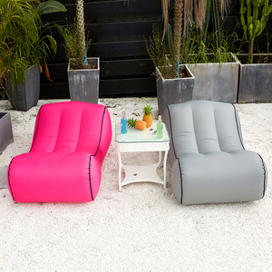Image 5 - Drop shipping Inflatable beanbag sofa outdoor beach chairs  air lounger sofa bed garden sofas