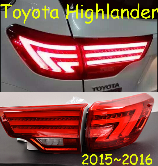 car-styling,Highlander Taillight,2015~2017,led,Free ship!4pcs,Highlander fog light;car-covers,Highlander tail lamp; high lander car styling highlander daytime light 2012 2014 free ship led chrome 2pcs set highlander fog light car covers highlander