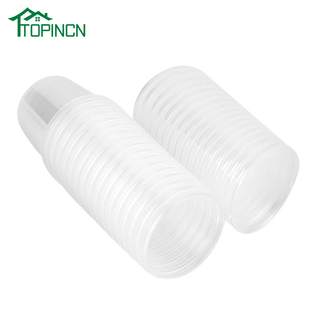 TOPINCN 50PCS Take Away Clear Plastic Cup Lid Disposable Container Sauce Shot