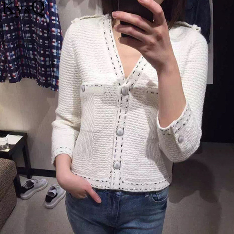 Christmas Knitted Cardigans Women 2017 Winter Female Cashmere Sweaters Pearl Beading Female White Warm Coat Jacket hiver Outwear