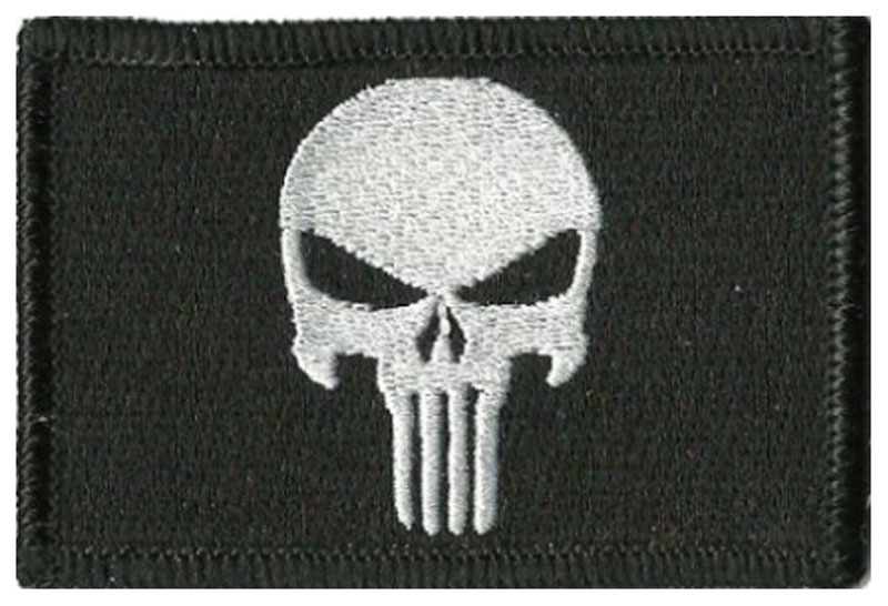 The Punisher White Skull Iron// Sew-on Embroidered Patch Badge// Logo