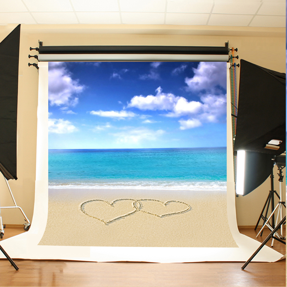 Wedding Photography Background Blue Sky White Clouds Birthday Backdrops Sea Love Sandy beach Backgrounds for Photographic Studio blue sky white clouds beach coconut tree backdrops fotografia fundo fotografico natal background photograph