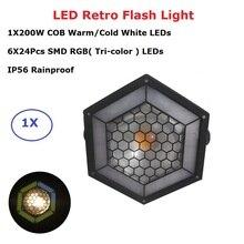 COB LEDS LED Par Light 1X200W Warm White Retro Flash DMX Controller Dj Equipment Stage Lighting Effect Disco