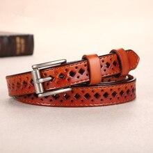 Women's Elegant Genuine Leather Pin Buckle Belt