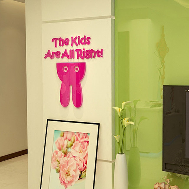 Online Shop The Kids Are All Right Cute Bunny Design Acrylic Wall ...