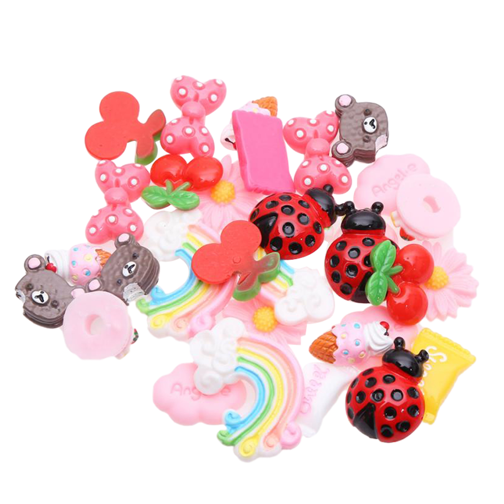 3pcs Ladybirds Flatback Resin Cabochon Embellishment Scrapbook Decoden Craft