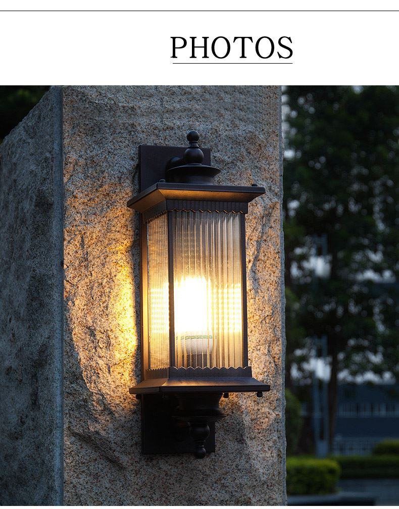 Porta de entrada simples lâmpada de parede