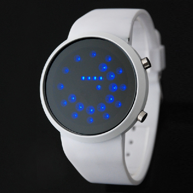 Brand New LED Digital Watch Silicone Band Bead Light Mirror Face Sport LED Wrist Watch Woman Watch LED Watch