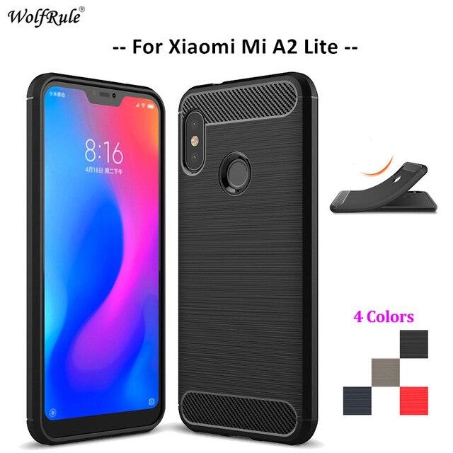 cheap for discount 4124f a46fe US $2.51 41% OFF For Cover Xiaomi Mi A2 Lite Case Soft Silicone Celular  Bumper Funda Phone Case For Xiaomi Mi A2 Lite Cover Redmi 6 Pro 5.84''-in  ...