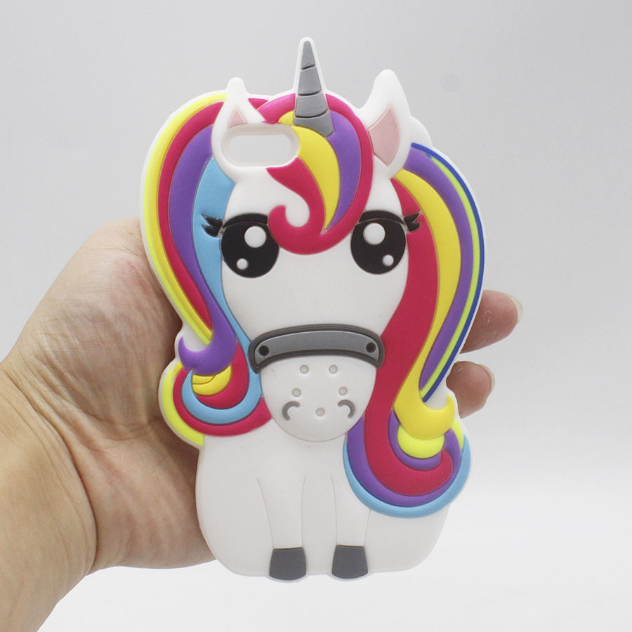 iPhone Rainbow Unicorn Silicone Case