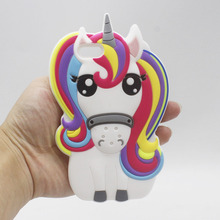 Cute Rainbow Unicorn Cases for iPhone 6 6s 5 5s SE 7 Plus 7Plus Huawei P8 P9 Lite 3D Cartoon Pony Horse Soft Silicone Case Capa