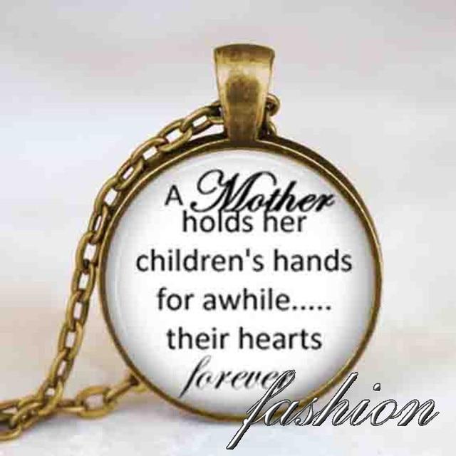 Extreem Moeder kind citaat ketting, Moederdag houdt haar childrens handen #HQ44