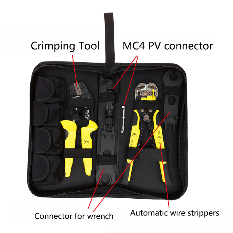 JX-MC4 Solar Panel multitool Crimping Tools 2.5-6mm2 14-10AWG Wire Crimper Wire Connector Cut Kit Wire Stripper Crimping Pliers solar crimping tool kits with 2 5 6 0mm2 crimping tool mc3 mc4 crimping die solar tool set with mc4 mc3 crimper stripper cutter