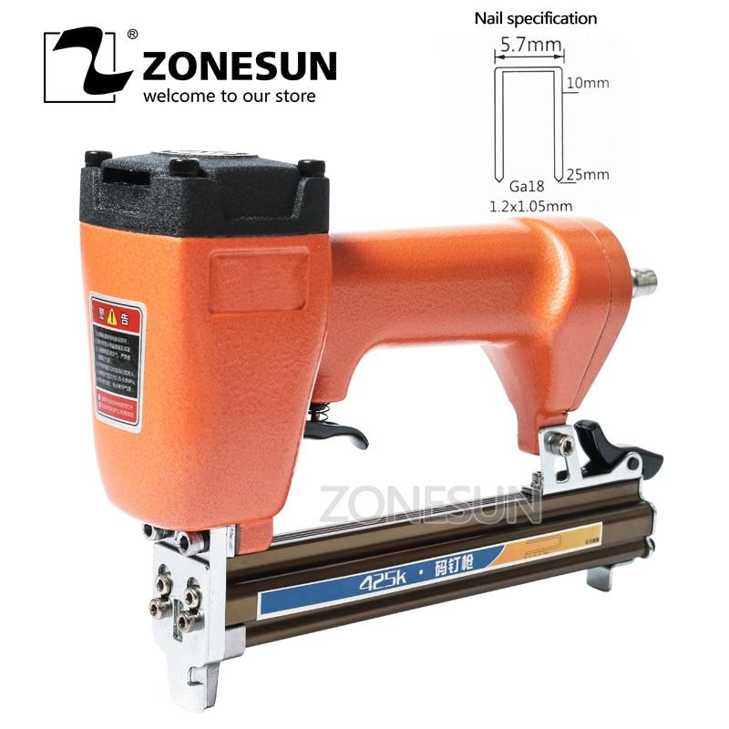 ZONESUN Pneumatic Micro Pinner Nailer Nail Gun Air Brad Nail Pin Gun for Furniture Wood Sofa Woodworking Air Stapler Tool