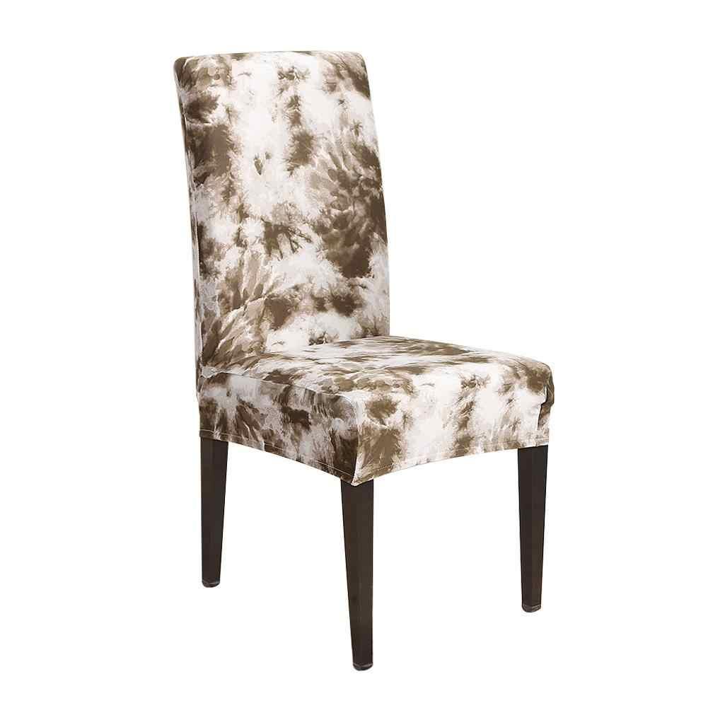 Чехлы на кресла стрейч с напечатанным рисунком банкетное сиденье протектор моющийся Съемный номер дома вечерние чехлы на стулья для отелей обеденный