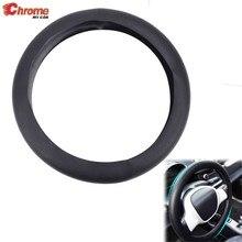 Capa de volante de silicone universal textura de couro preto carro caminhão veículo auto macio luva estilo acessórios decoração