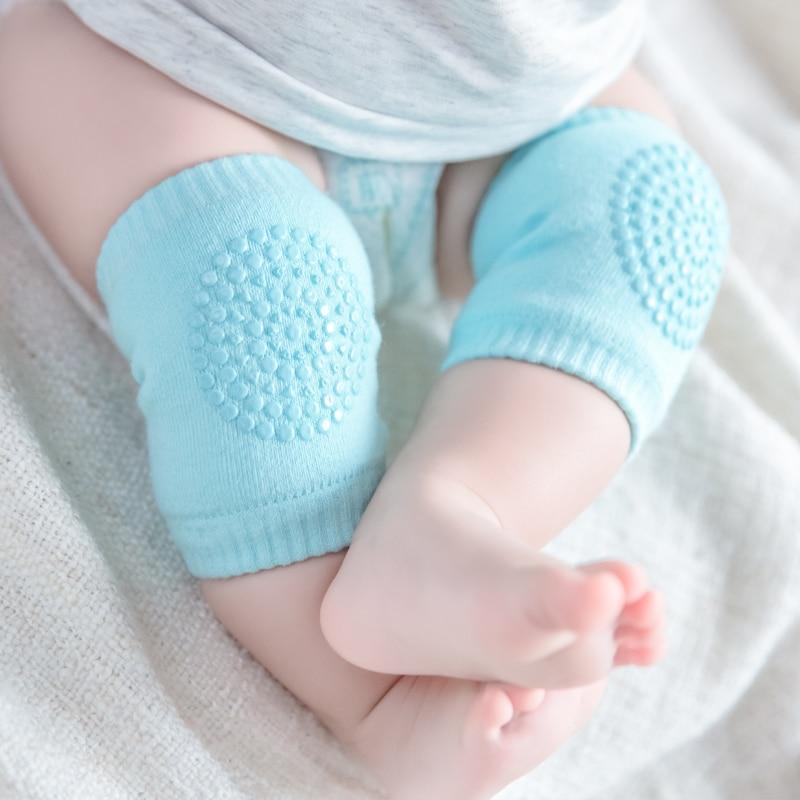 1 Paar Baby Knee Pad Kids Veiligheid Kruipen Albow Kussen Beschermen Baby Knie Cap Katoen Antislip Warm Verdikking Sokken Omhulde
