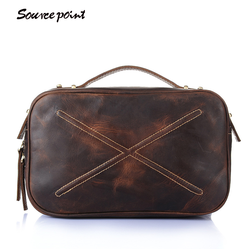 SOURCE POINT Women Genuine Leather Messenger Bag LeatherTotes Shoulder Bag First Layer Cowhide Messenger Bags Flap YD-8019 qiaobao 2018 new korean version of the first layer of women s leather packet messenger bag female shoulder diagonal cross bag