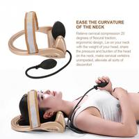 Neck Cervical Traction Device Vertebra Tractor Pneumatic Pump Neck Spine Posture Traction Headache Head Neck Muscle Pain Relief