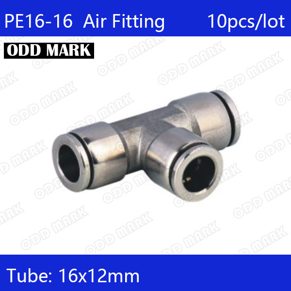 Free shipping 10pcs/lot 16mm , PE16-16,304 Stainless Steel Straight Union T Connector free shipping 10pcs 1203p100 dip8
