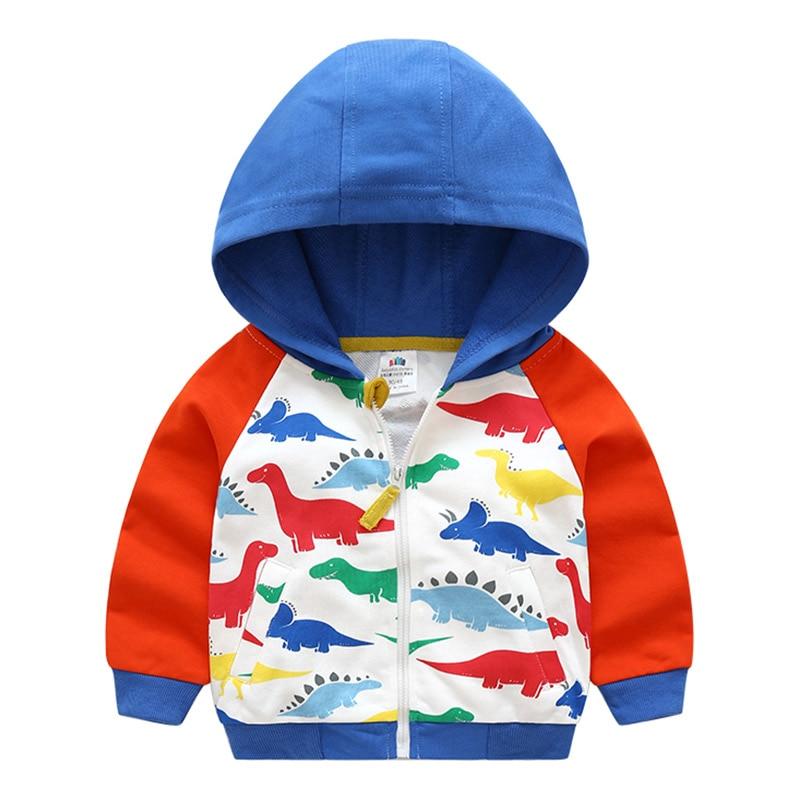 Cartoon Jacket Spring Patchwork Outwear Baby Boys Autumn Kids Outdoor Children Color