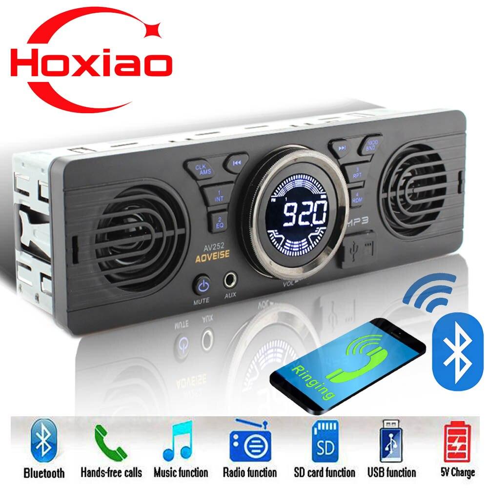 1 Дин радио MP3 аудио плеер Bluetooth Hands-Free стерео fm Встроенный 2 динамиками поддерживает USB SD AUX воспроизведение аудио