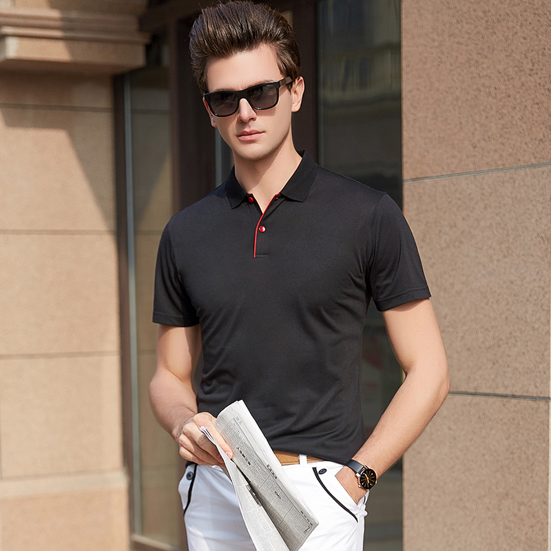 2019 New Fashion Brands   Polo   Shirt Men's British Style Summer Short Sleeve Slim Fit Solid Color Poloshirt Casual Men Clothes