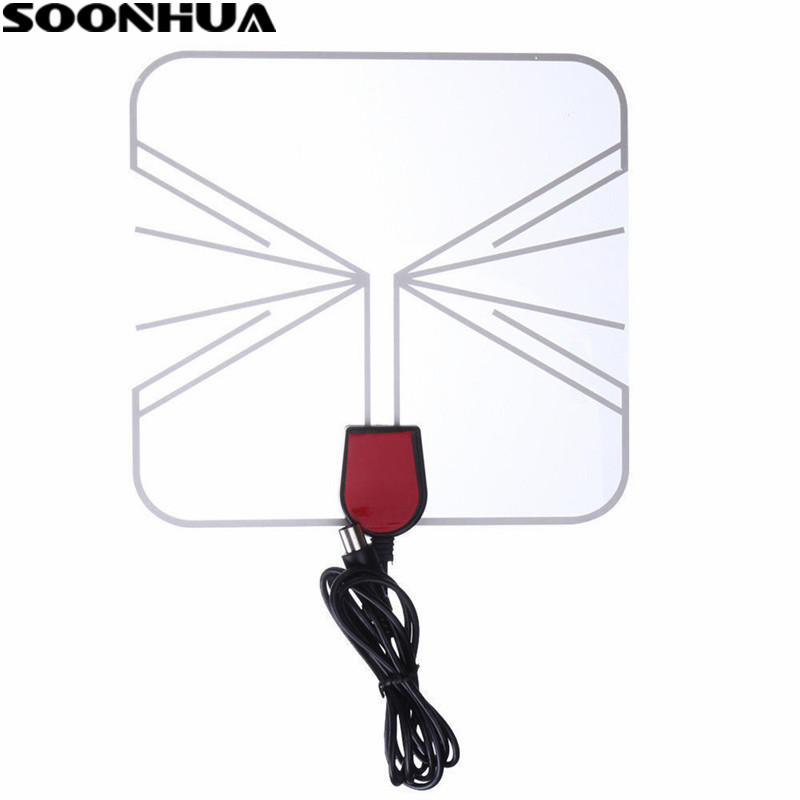 SOONHUA USB Innen Digitale Tv-antenne 50-100 Meilen Reichweite Signal Receiver Verstärker High Gain Für HDTV TV Box Transparent Design