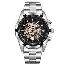 FNGEEN Водонепроницаемый автоматические механические часы Нержавеющаясталь Модные полые Для мужчин смотреть Бесплатная доставка