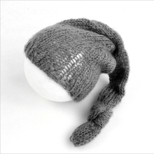 лучшая цена Soft Mohair Baby Hat Newborn Photography Accessories Baby Crochet Knot Cap Infant Photography Props Casquette Enfant Fotografia