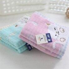 Высокое качество, 1 шт., милое хлопковое детское полотенце, супер мягкое полотенце с котятами, высококлассное полотенце, сильное водопоглощающее полотенце