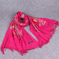 High Quality Fashion Winter Scarf Women Embroidery Blended Cashmere Sarong Bufandas Mujer Ladies Scarves Shawls And Scarves
