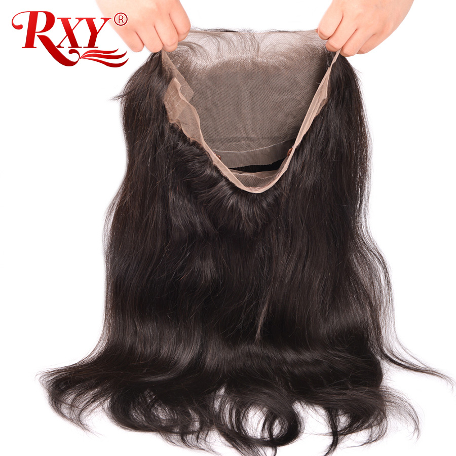 RXY Pre Plucked 360 Lace დახურვა - ადამიანის თმის (შავი) - ფოტო 5