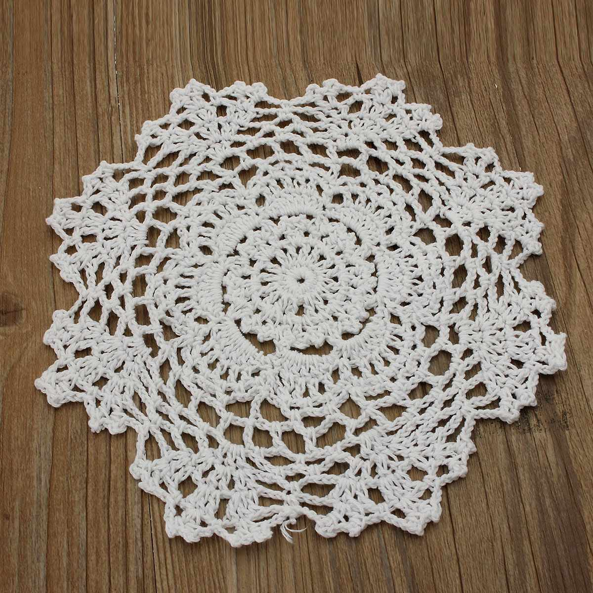8 round handmade crochet lace floral doilies vintage knit cup coasters tableware placemat pad wedding