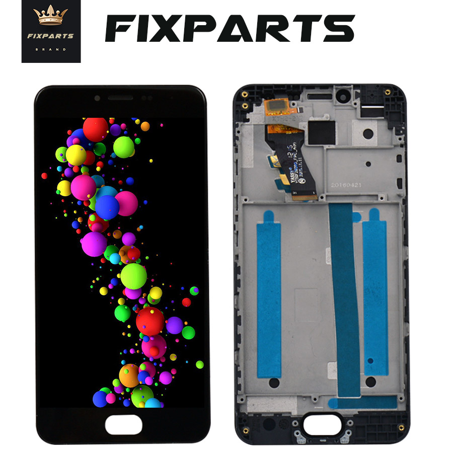 100% Tested 1280x720 <font><b>Meizu</b></font> <font><b>M3S</b></font> LCD <font><b>Display</b></font> Touch Screen Digitizer Assembly With Frame Replacement For 5.0