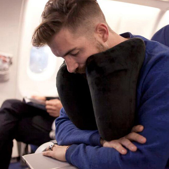 GT H Shape Inflatable Travel Pillow Air Cushion Folding Lightweight Nap Neck Pillow Car Seat office Airplane sleeping Cushion 1