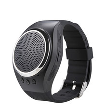 2016 Hot RS09 Bluetooth movement Music watch Portable Mini Watch Bluetooth 2.1+EDR Sport Speaker TF Card FM Audio Radio Speakers(China)