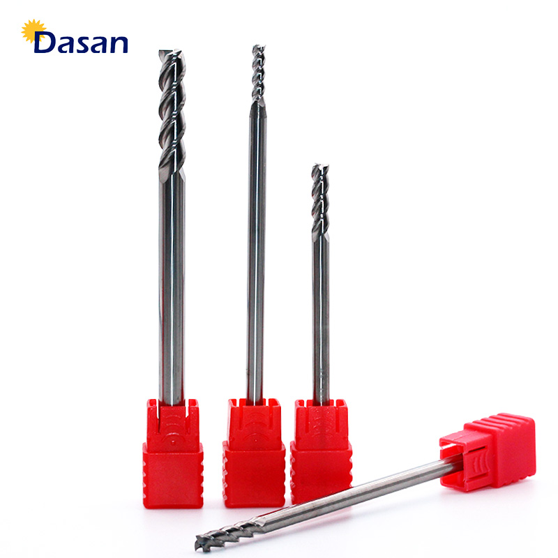 1pcs End Mill Aluminum Cutter Alloy Coating Tungsten Steel Tool 3 Blade Extra Long Milling Cutter Woodding Cutter Tool