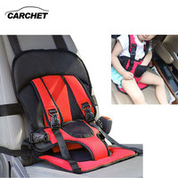 CARCHET Kids Baby Car Safety Cover Strap Adjuster Pad Harness Children Seat Belt Clip Red Baby