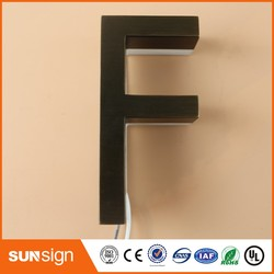 Custom Metal illuminated letter sign for shop