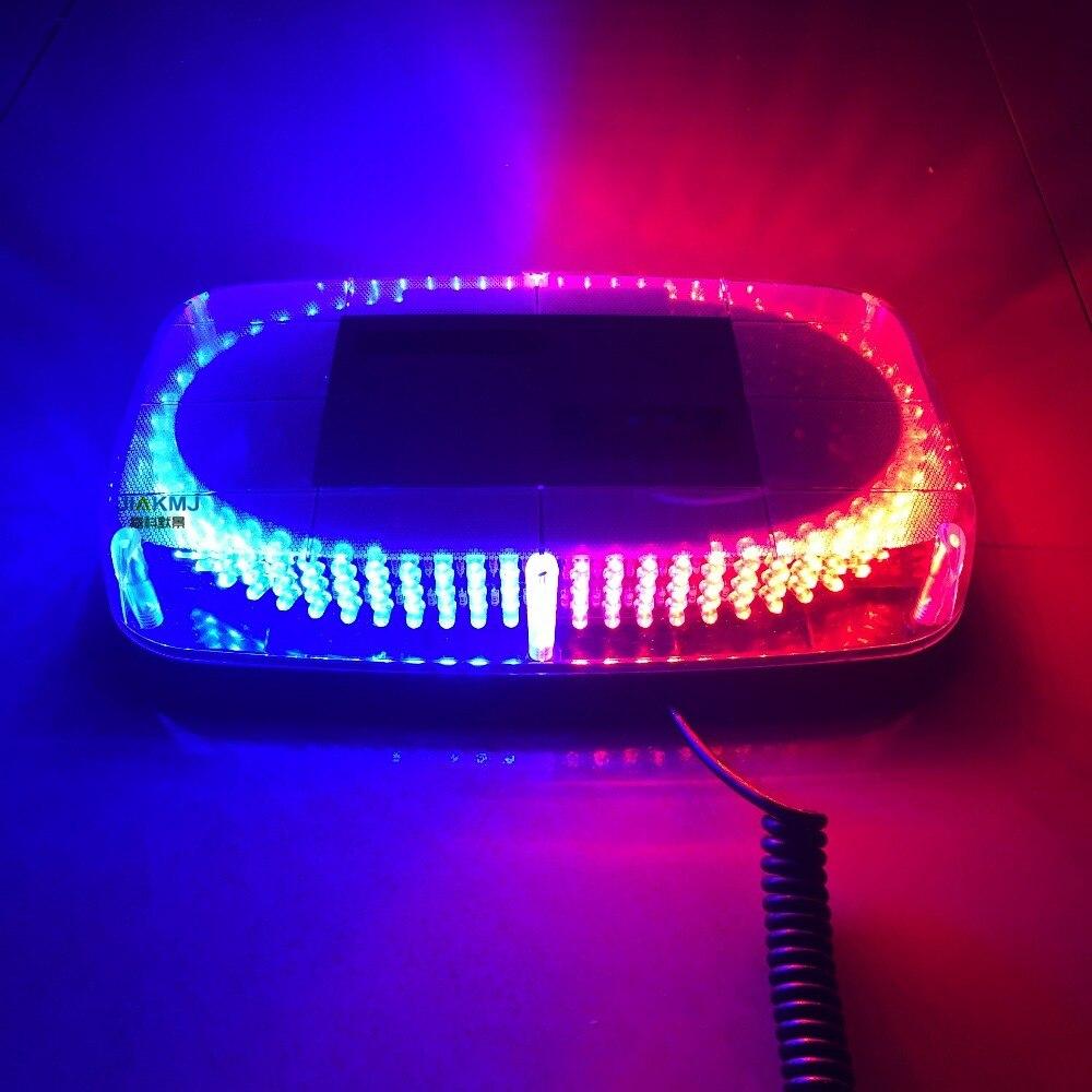 Voiture véhicule Police avertissement lumière ambre rouge jaune bleu 240LED DC12V magnétique monté clignotant stroboscope lumière de secours balise - 5