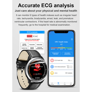 "Image 2 - חכם שעון אק""ג PPG חכם להקת כושר קצב לב צג לחץ דם שעון עמיד למים Smartwatch עבור IOS אנדרואיד טלפון שעון"