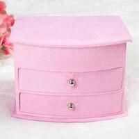 Różowy w kolorze z hurtownie chic dekoracyjne prezent drewniane pudełko z biżuterią