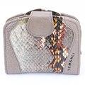 New pattern Genuine leather women's short design wallet fashion classic Serpentine pattern purse female Wallets Cowhide