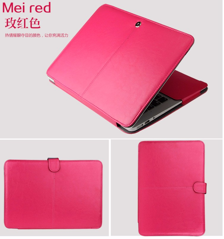 PU leather Notebook Case for MacBook 108
