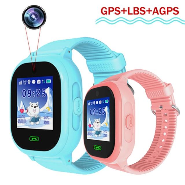 80e8550435e3 DS05 GPS Smartwatch con cámara IP67 impermeable niños bebé nadar teléfono  smart watch SOS llamada ubicación