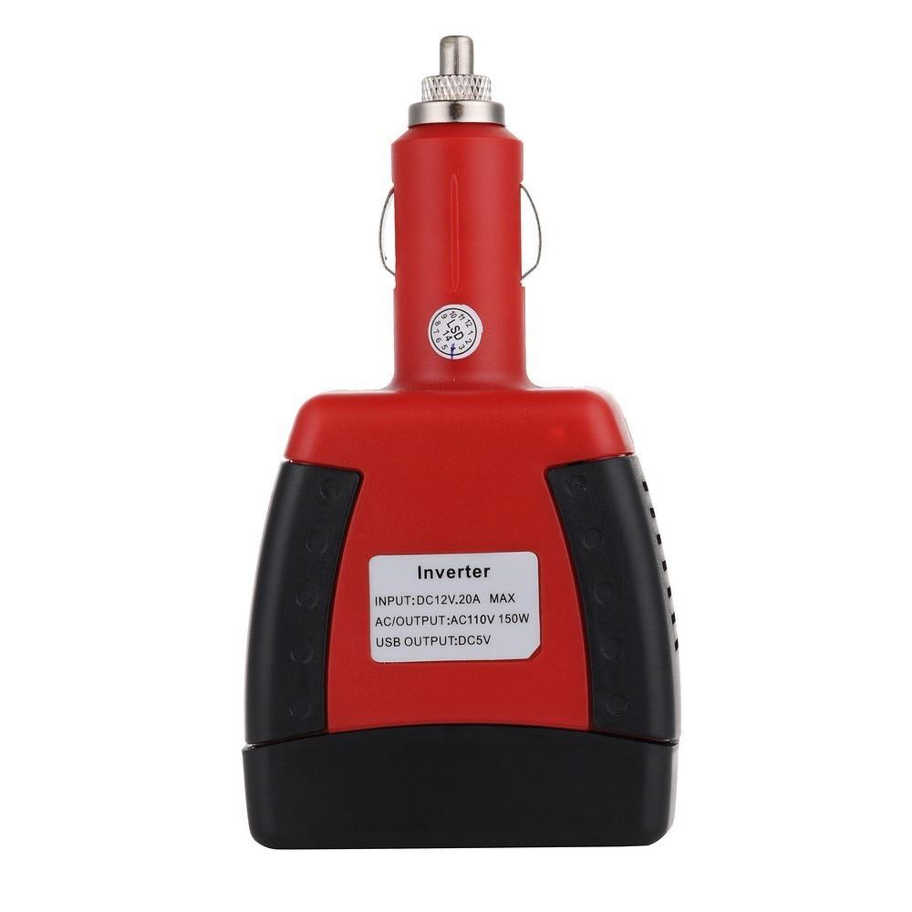 Beste qualität DC 12 V eingangsspannung und AC 220 V ausgang 150 Watt Wechselrichter Ladegerät Adapter mit USB freies verschiffen