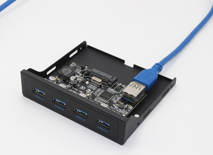 "Image 4 - PCI E к USB 3,0 ПК, Фронтальная панель, USB Расширительная карта PCIE USB адаптер 3,5 ""флоппи USB 3,0 Передняя панель кронштейн PCI Express x1 Riser"