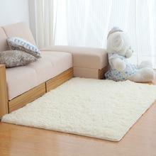 Zeegle Shaggy Carpets For Living Room European Soft Faux Fur Area Rug Kids Room Rug Bedroom Mats Anti-slip Sofa Table Floor Mats