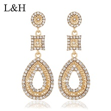 2019 Fashion Luxury Crystal Drop Earrings For Women Classic Charm Statement Water Drop Long Dangle Earrings Bohemian Jewelry недорого